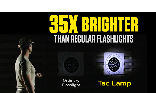 35x Brighter than Regular Flashlights